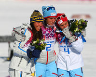 Ladies' Skiathlon Royalty Free Stock Image