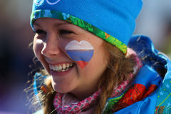 Ladies' Skiathlon Stock Photo
