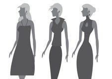 Ladies Sleeveless Dress Fashion Vector Illustration Stock Photos