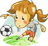 Ladies Soccer Team. Ladies Soccer, detailed vector of soccer cartoon Stock Photography