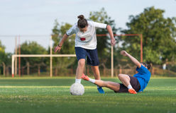Ladies soccer Royalty Free Stock Photo