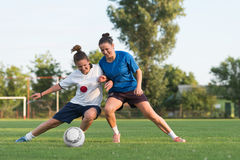 Ladies soccer Stock Photography