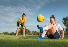 Ladies soccer Royalty Free Stock Photos