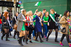 Ladies of St Patric's Day Parade Royalty Free Stock Photo