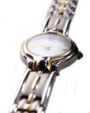 Ladies stainless steel watch Stock Photos