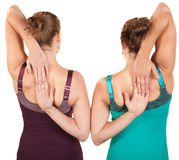 Ladies Stretch From Rear View Stock Image