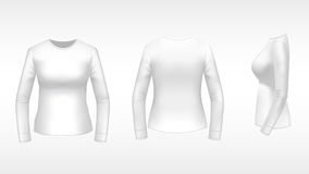 Ladies t-shirt with long sleeves Stock Image