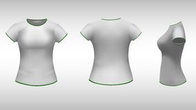 Ladies t-shirt  with short sleeves Stock Photos