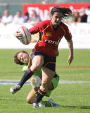 Ladies tackle at the Dubai Rugby Sevens Stock Photo