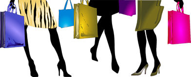 Ladies to go shopping Stock Photo