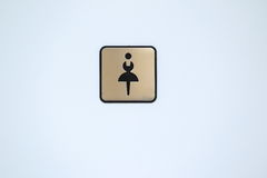 Ladies toilet symbol Stock Image