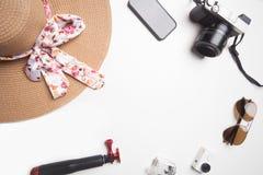 Ladies travel equipment Stock Photography