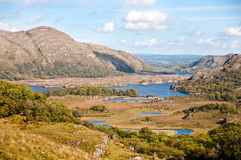 Ladies view, Co. Kerry, Ireland. Ladies view is a scenic point along the N71 portion of the Ring of Kerry, in Killarney National Park, Ireland Royalty Free Stock Photography