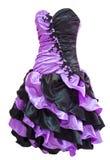 Ladies' violet black cocktail dress Royalty Free Stock Photo
