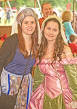 Ladies in waiting: Marymas Fair. Royalty Free Stock Images