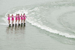Ladies water skiing Stock Photography