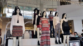 Ladies Wear Departmental Store. The fahion ladies wear retail store and Farenheit Shopping Mall Bukit Bintang Kuala Lumpur Malaysia Stock Photo