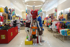 Ladies Wear section in AEON Mall Stock Images