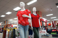 Ladies Wear section in AEON Mall in Johor Bahru, Malaysia Stock Photo