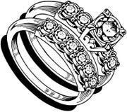 Ladies Wedding Ring Set 1 Royalty Free Stock Images