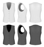 Ladies white and black waistcoats. Royalty Free Stock Photography