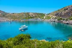 Ladiko Bay. Rhodes, Greece, EU Royalty Free Stock Photography