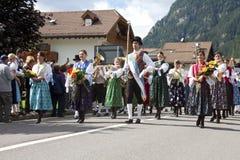 Ladina ludowy fest, północny Italy Fotografia Royalty Free