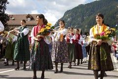 Ladina ludowy fest, północny Italy Fotografia Stock