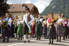 Ladina's folk fest,north italy Royalty Free Stock Photos