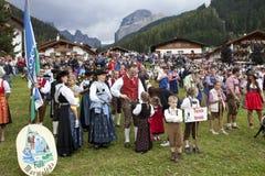 Ladina's folk fest,north italy Stock Photo