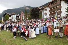 Ladina's folk fest,north italy Stock Photography
