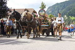 Ladina's folk fest,north italy Stock Photos