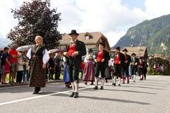 Ladina's folk fest,north italy Royalty Free Stock Image