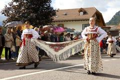 Ladina's folk fest,north italy Royalty Free Stock Photography