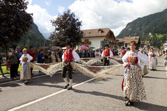 Ladina's folk fest,north italy Stock Photos