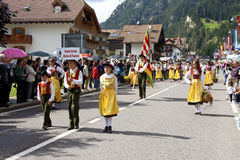 Ladina's folk fest,north italy Stock Photography