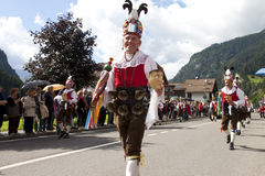 Ladina's folk fest,north italy Stock Image