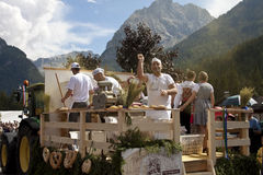 Ladina's folk fest,north italy Stock Images