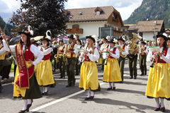 Ladina's folk fest,north italy Royalty Free Stock Photo