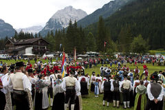 Ladina's folk fest,north italy Royalty Free Stock Image
