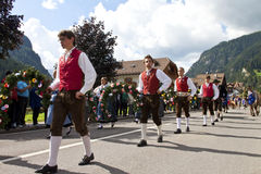 Ladina's folk fest,north italy Stock Photo