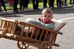 Ladinas folk fest, norr Italien Arkivfoton