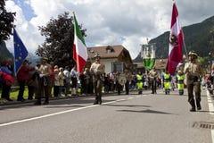 Ladinas folk fest, norr Italien Royaltyfri Fotografi