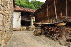 Ladines village, Sobrescobio, Asturias, Spain Stock Images