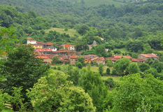 Ladines village, Sobrescobio, Asturias, Spain Stock Image