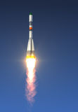 Lading Rocket Launch Stock Foto