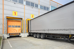Ladingsaanhangwagen Royalty-vrije Stock Afbeelding