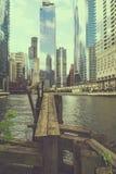 Ladingsdok en cityscape Royalty-vrije Stock Afbeelding
