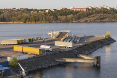 Ladingsdok voor de veerboot Royalty-vrije Stock Afbeelding