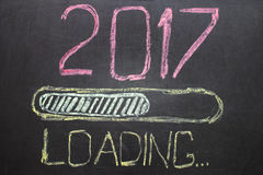 Ladingsnieuwjaar 2017 op Bord Royalty-vrije Stock Foto's